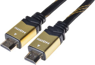 PREMIUMCORD Gold HDMI High Speed + Ethernet kabel, zlacené konektory, 5m